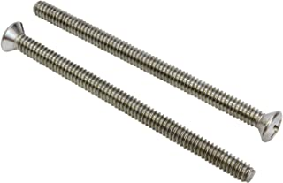 AISI 304 Stainless Steel 25 pcs 82 Degree Countersink 18-8 Flat Square Drive Machine Screws Full Thread 1//4-20 X 2