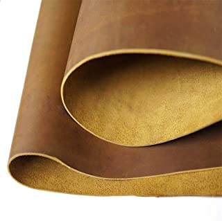 Bourbon Brown Leather Hide - Cow Skins (12x 24 inch, 2 Square Foot) for Crafts Sewing