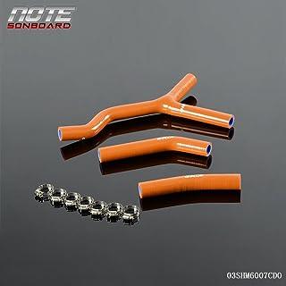 Silicone Coolant Radiator Y Design Hose Kit Clamps For KTM 125SX 200SX 03-06 2004 2005 2006 Dark Orange