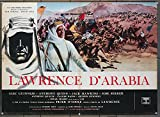 Lawrence Of Arabia (1962) Original Italian 27x37 Movie Poster PETER O'TOOLE Film Directed by DAVID LEAN Early re-release of 1963.