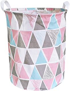YUNIAO Waterproof Canvas Sheets Laundry Clothes Laundry Basket Storage Basket Folding Storage Box,Dirty Clothes Storage Basket,Linen Cotton Material, Durable and Waterproof (C)