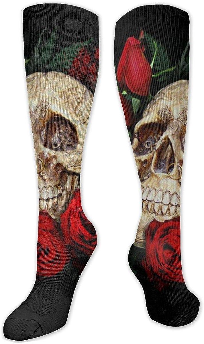 XSEFVSAQ Max 81% Brand Cheap Sale Venue OFF Skull and Roses Personality Socks Novel Knee Funny High
