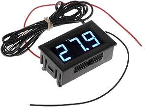Gaoominy DC 5-12V -50-110 Celsius Indicador de temperatura digital Termometro Detector de temperatura del refrigerador con la sonda, Azul