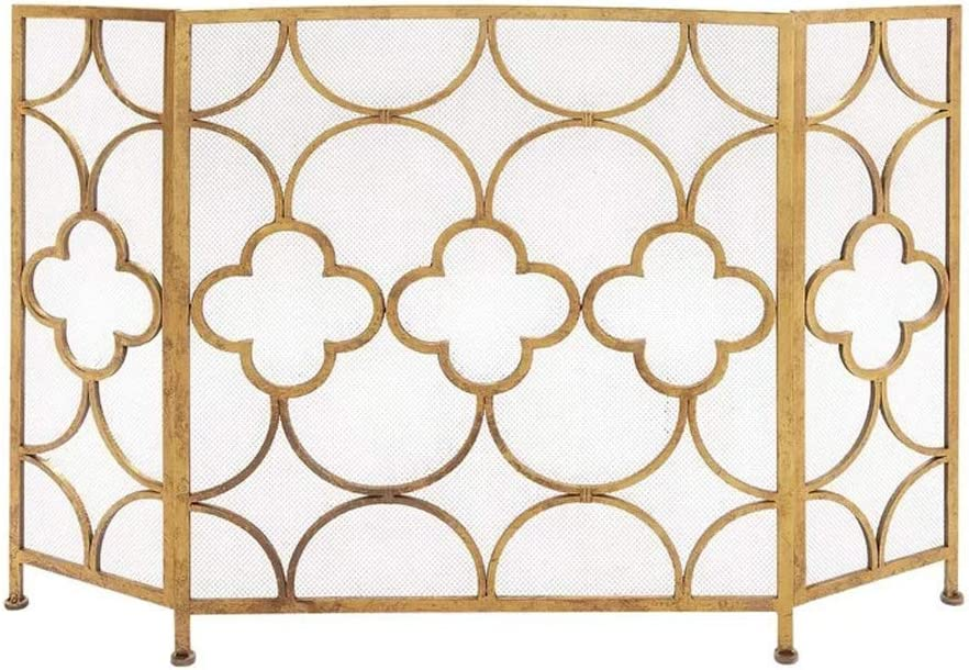 Fireplace Screen Nordic Simple Gold Fire Room Super special price Living Fence Sale special price Home