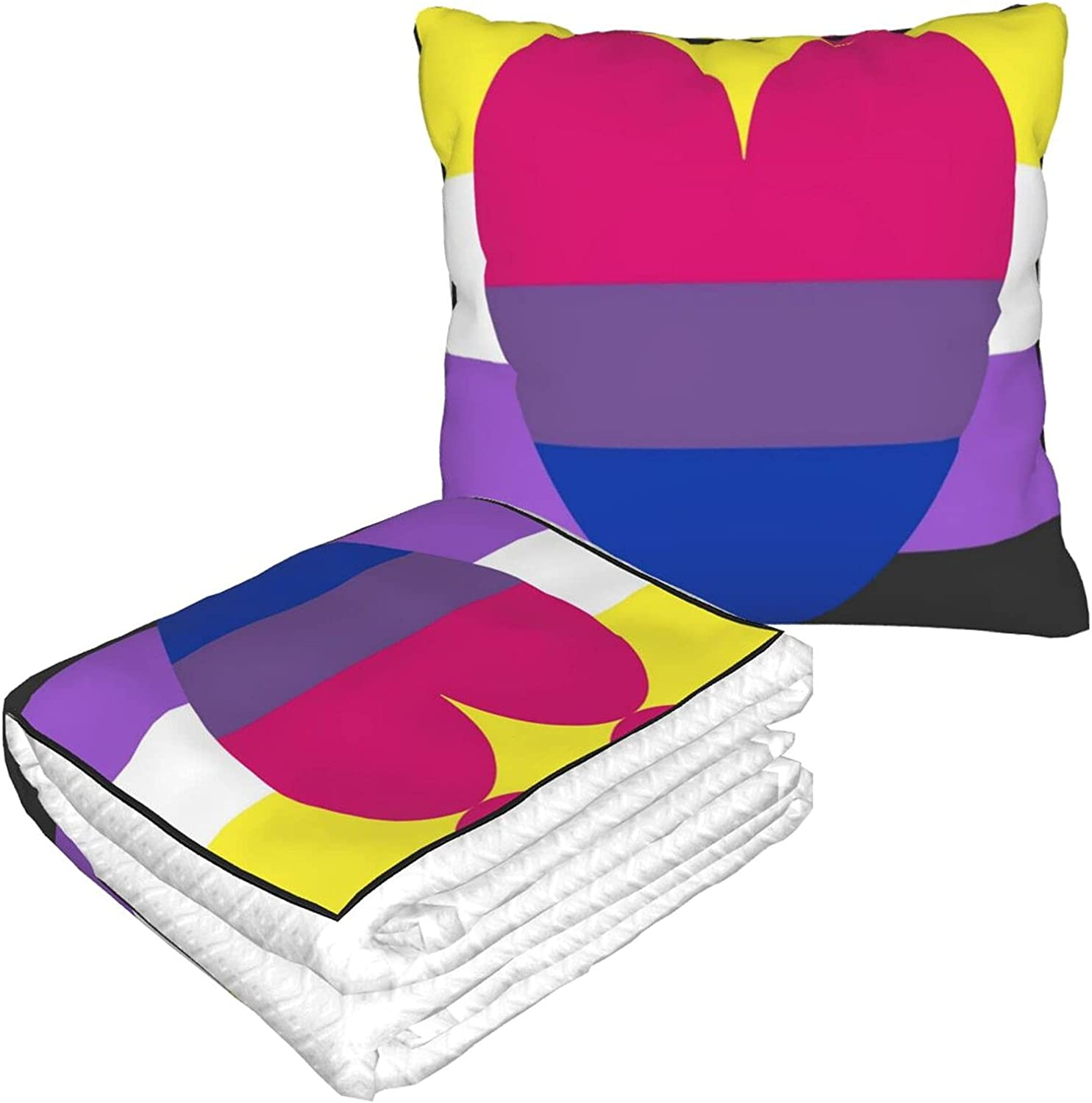 Foldable Pillow Blanket Non Indianapolis Mall Binary Bisexual Pride Trave for Popular popular Flag