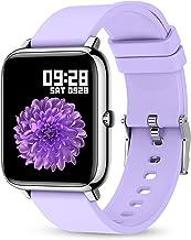 ساعت هوشمند ، ردیاب تناسب اندام KALINCO با مانیتور ضربان قلب ، فشار خون ، ردیابی اکسیژن خون ، صفحه نمایش لمسی 1.4 اینچی Smartwatch Fitness Watch برای زنان سازگار با Android iOS (بنفش)