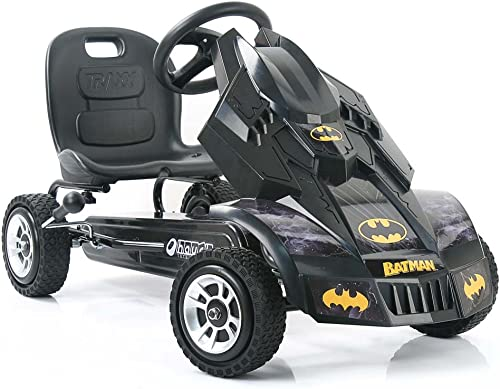 Hauck Batmobile Pedal Go Kart, Superhero Ride-On Batman Vehicle, Kids 4 and Older, Peddle & Patrol the Streets of Got...