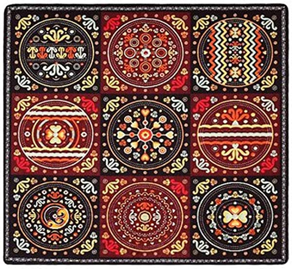 QYLOZ Corridor Square Carpet Living Room Coffee Table Sofa Room Home Bedroom Door Mat Size 150CM 150CM