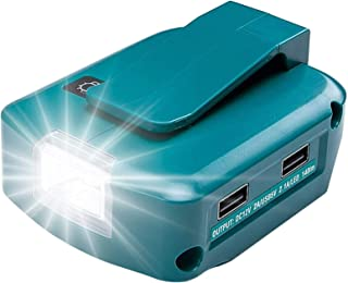 ADP05 Power Source for Makita 14-18V Lithium-Ion Battery YEX-BUR USB Phone Charger Adapter Converter with Dual USB Ports, ...
