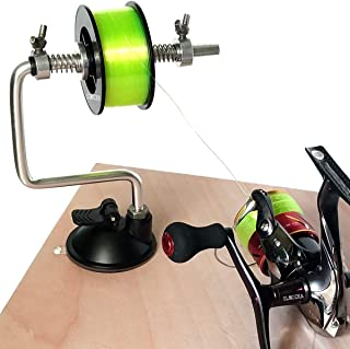 SLMOZKA Fishing Line Spooler Silver Reel Winder Spool Tackle Winder spooling Station..