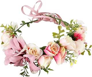 Fashion Lily Flower Headband Hair Wreath Bridal Floral Crown Headdress Bohemian Garland for Wedding Festival