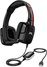 Mpow USB/3.5mm Computer Headset with Noise Canceling Microphone, Lightweight USB Headphones for Comfort, Over Ear Skype Headphones with in-line Volume Control for Office, Business, Call Center
