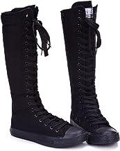 knee high converse tennis shoes