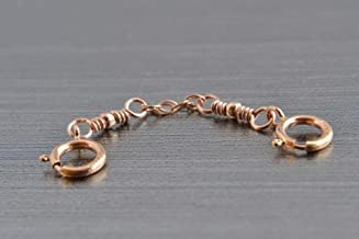 Small Jewelry Safety Chain Guard, Rope Chain, Sterling Silver, 14K Rose Gold Filled, or 14K Gold Filled