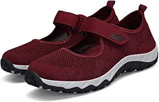 AUCDK Women Walking Shoes Breathable Mesh Trainers Lightweight Loafer Athletic Running Shoes Fitness Sneakers