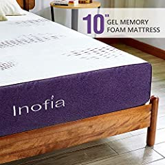 💜【MULTI-LAYER RESPONSIVE SUPPORTIVE MATTRESS】Cloud-Sleep mattress features a unique 3-Layer Design: The top layer of 1.5-inch memory foam with cooling gel is better to reduce heat retention. Unique design of Lavender Airflow foam layer relieves stres...