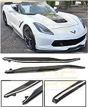 Extreme Online Store EOS Z06 Performance Style Carbon Fiber Side Skirts Rocker Panel Extension for 2014-2019 Chevrolet Corvette C7 All Models