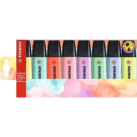 Evidenziatore - STABILO BOSS ORIGINAL Pastel - Astuccio da 8 - Colori assortiti