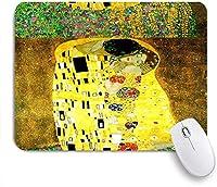ECOMAOMI 可愛いマウスパッド グスタフクリムトのデザインを理由に、クリムトにインスパイアされた抽象芸術のバティック絵画 滑り止めゴムバッキングマウスパッドノートブックコンピュータマウスマット