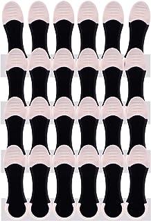 Lot de 24 pinces à linge XXL pour linge délicat avec poignée douce et poignée blanche