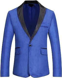 Zytyeu Men Blazers Slim Fit Button Suits Blazers Business Casual Jacket Office Jacket Prom Wedding Elegant Men Outfits Spr...