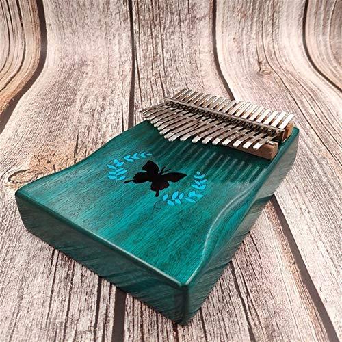 Kalimba, Daumenklavier 17 Keys Kalimba Mbira Daumen Finger Klavier Tragbare Massivholz Musikinstrument Geschenk for Musikfreunde und Anfänger (Color : 33.42)