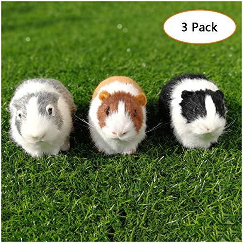 Simulation Guinea Plüschtier - Cute Realistische Plüsch Simulation Tiermodell - Simulation Guinea Miniatur Tier Toy Collection Figur - für Kinder-Spielzeug-Geschenk