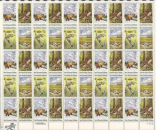artículos novedosos Wildlife Habitat Preservation - Sheet of Fifty 18 Cent Stamps Stamps Stamps Scott 1921-24 by USPS  de moda