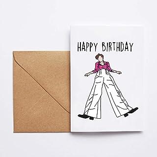 BUON COMPLEANNO, happy birthday (harry styles edition) - greeting card, biglietto d'auguri