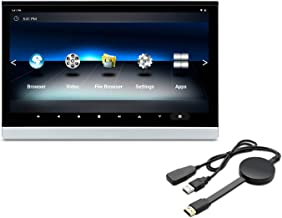 XTRONS 12.5 Inch Android Car Headrest Touch Screen Portable Video Players for Car Backseat Headrest Mount Monitor Support ...