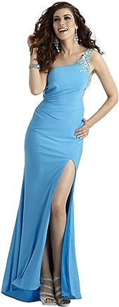 cd4fec0255 Clarisse One Shoulder Stretch Jersey Prom