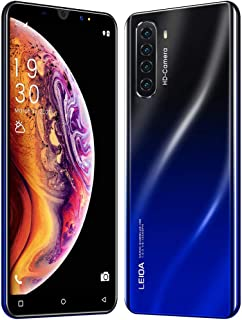 S20 Mini 5inch Face Recognition Fingerprint ID Smartphone Dual SIM Card Cell Phone, Android 9.1 1G RAM +16G ROM of Storage, Quad Core Processor, Quadruple Rear Camera, with 3800 mAh Battery (Black)
