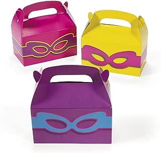 24 - Superhero Girls Party Favors Treat Boxes Theme Birthday Set