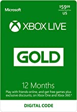 Xbox Live Gold: 12 Month Membership [Digital Code]