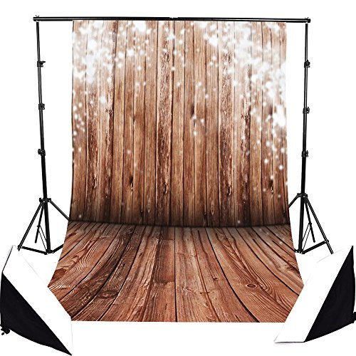 AFUT 1,5 x 2,1 M Retro Nostalgie Holz Thema Fotohintergrund Fotografie Stoffhintergrund, Hintergrund-Hintergrundstoff für Fotografie