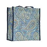 Signare Tapiz bolsas reutilizables bolsa compra tote bag con diseño de patrón de moda (Paisley)
