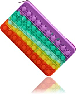 Sponsored Ad – Pencil Case Push Pop Its Bubble Pen Holder Simple Silicone Fidget Toy Office Stationery Organizer Large Cap...