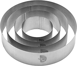 Cake Ring Set, Cake Mold Set, Pastry Ring, Mousse Ring, Ring Mold for Baking-4/6/8/10 Inch