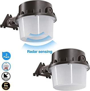 Radar Sense, LED Yard Light for Area Lighting LED Outdoor Barn Light, (250-350W Equivalent), 5000K Daylight, 4200lm Floodlight, Wet Location, Radar Sensor Included, 50K 2Pack