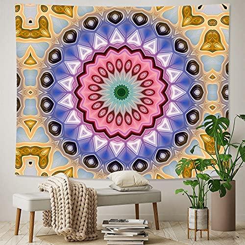 PPOU Mandala decoración del hogar Tapiz Tela de Fondo Hippie Estilo Bohemio Colgante de Pared Escena psicodélica Tela Colgante A2 100x150cm