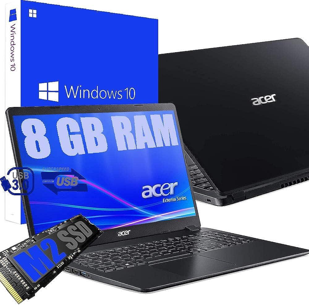 Pc portatile acer cpu amd a4 vga radeon r3 ram 8gb ddr4 /ssd m2 256gb EX215/A4/8GB/SSD256/W10