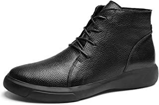 Yi-xir classic design Classical Ankle Boot for Men Retro Heights Top Oxfords Lace up Genuine Leather Anti-skid Solid Color...