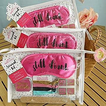 Kate Aspen Still Drunk Bachelorette Survival Kit, One Size, Pink/Gold/Black/Blue