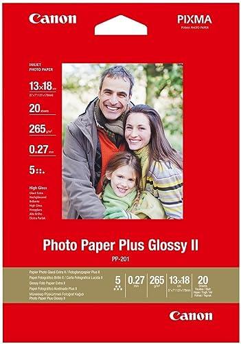 Canon PP-201 Papier Photo Brillant Format 13x18cm (20 feuilles)