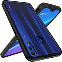 OUBA Huawei Honor 8X Case, [Shock Absorbing] Air Hybrid Slim fit Armor Shockproof Drop Protection Crystal [Clear] Back Protective Case + TPU Bumper Cover for Huawei Honor 8X - Black