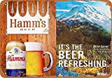 Snowae Hamm's Beer and Mount Rainier Metall Poster Wand