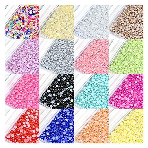 WEIMEIDA Yklz703 100pcs / Lote 8 mm Half Ronda Beads of DIY Imatit Pearls Jewelry Beads Regalo (Color : 7, Size : 8mm 100pcs)