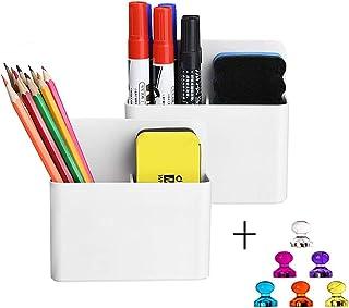 Magnetic Dry Erase Marker Holder, Pen and Eraser Holder for Whiteboard, Magnet Pencil Cup Utility Storage Organizer for Of...
