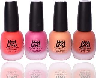 Makeup Mania Premium Nail Polish Set, Velvet Matte Nail Paint Combo of 4 Pcs, Perfect Gift for Girls and Women (MM-64), Multicolor, 300 g