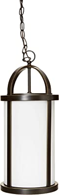 Antique Bronze HI Progress Lighting Progress Lighting P5549-20 Greetings Collection 1-Light Hanging Lantern